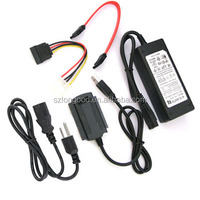 High quality IDE & SATA USB 2.0 to ide sata 2.5 3.5 HDD converter cable
