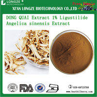 spray dried Chinese herb extract Angelica Ferulic acid 0.1% 1%Ligustilide DONG QUAI Extract P.E Angelica sinensis Extract