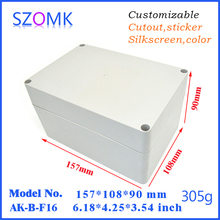 90(H)*110(W)*160(L)mm IP65 light gray plastic waterproof enclosure and plastic waterproof box for electronics, pcb and device