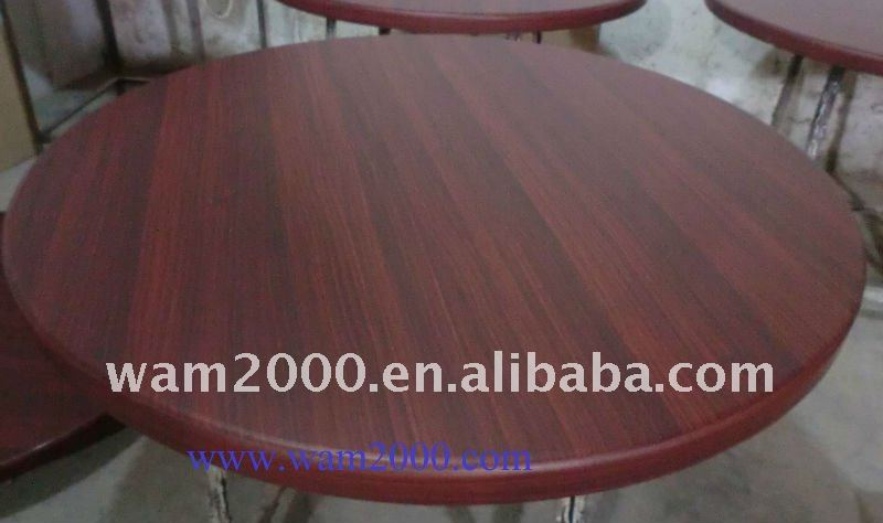 Round Resin Coated MDF table top for indoor use