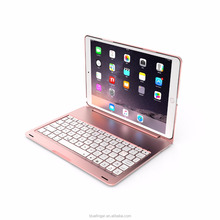 Aluminium alloy material backlit keys Bluetooth keyboard case for ipad pro 10.5