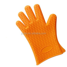 Top selling products heat resistant silicone gloves five fingers design
