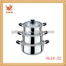 china factory household stainless steel pot prestige cookware set for wholesale