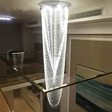 Modern Contemporary Lamp Waterfall Raindrop Clear K9 Crystal Chandelier for Living Room Restaurant Hotel Hall