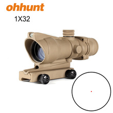 Tactical Sight Metal Housing 1x32 real Fiber Optic red dot hunting Optic Rifle scope