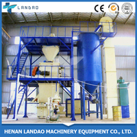 Simple energy-saving mixed cement and sand dry mortar production line