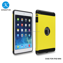 Factory Supply Wholesale Protective Shockproof Bright Matte Colors TPU PC Tablet Cover Case For iPad Mini