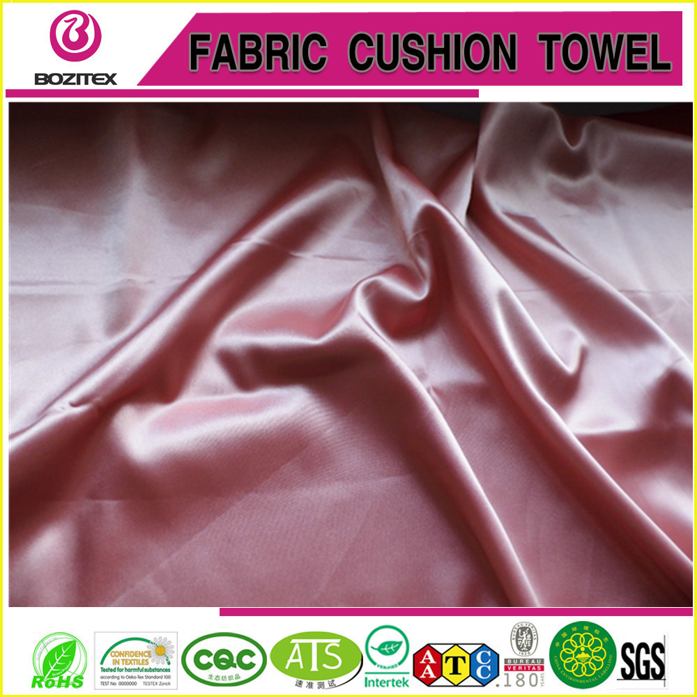 Polyester spandex heavy weight satin ready made colors/Poly spandex triacetate like satin /poly spandex heavy dull satin