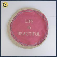 Different kinds of simple design pink polyester pattern seat cushion