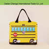Fashion girls casual Multicolor cartoon bus style canvas bags