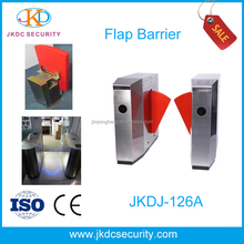 Stainless Steel Acrylic Automatic Biometric System Access Controller Swing Flap Barrier Gate
