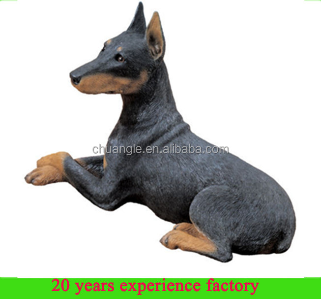 resin dog ornaments garden ornaments dogs doberman dog statues for sale