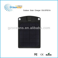 Outdoor solar charger OS-OP051A 5W USB output directly charge the mobile phone