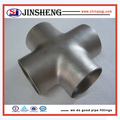 Carbon steel 4 way pipe connector equal