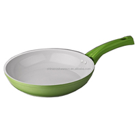 Aluminum white ceramic forged fry pan