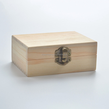 gift packing box square wood container 3 grid 10ml essential oil bottle storage cheap mini wooden box