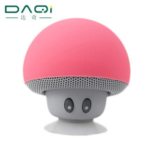 2016 new products mushroom mini wireless bluetooth speaker portable stereo sound music receiver with sucker for mobile phone