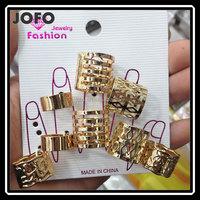 rhinestone character pendant necklace with bracelet ring dubai gold jewelry set