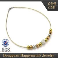 2015 Hot Product Latest Crazy Thai Bead Necklace