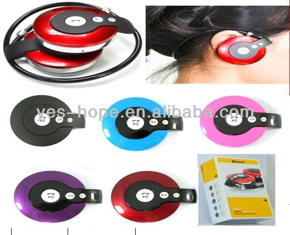 Colorful wireless neckband bluetooth headset for small ears made in China
