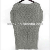 12STC0626 raglan short sleeve angora sweater