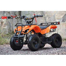 QWMOTO CE 50CC 2 Stroke Mini ATV Mini Quad Kids Gas 4 wheeler with electric start and Pull start (QWMA)