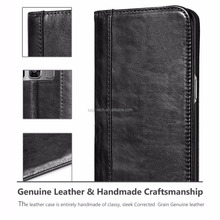 For samsung galaxy s8 handmade genuine leather case,business style ID card holder mobile phone case for samsung s8