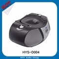 Professional retro portable outdoor radio cd player with speakers