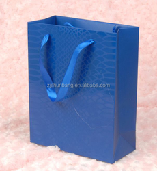 2015 cheap 3d paper bag/ paper baby 3d paper bag/ top level flat brown kraft 3d paper bag with window