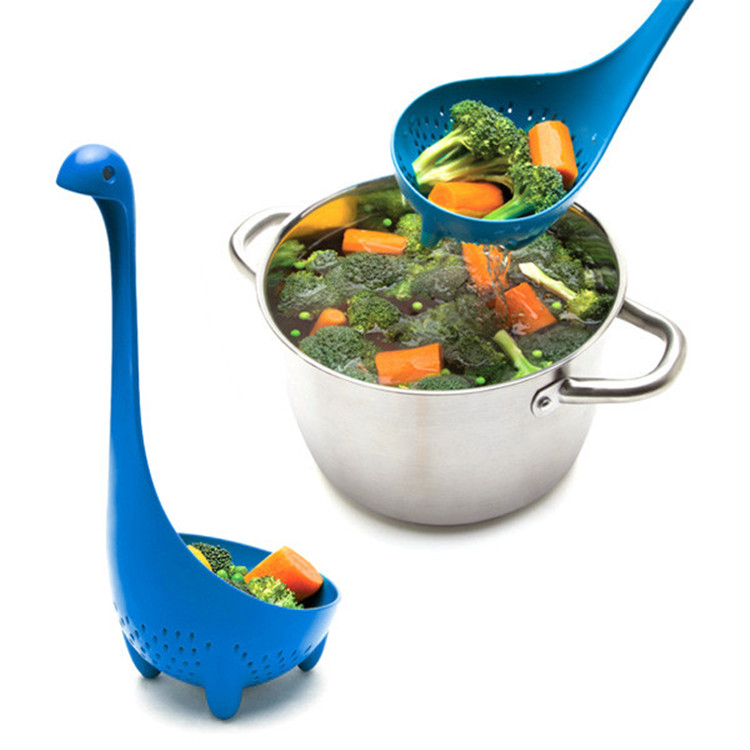Factory Wholesale Long Handle Large Nessie Colander Spoon