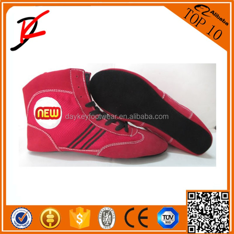 Sambo Wrestling Cow suede Leather Shoes Uniform endorsed by Russian Sambo Federation Sporting Goods Sambo Grappling Shoes