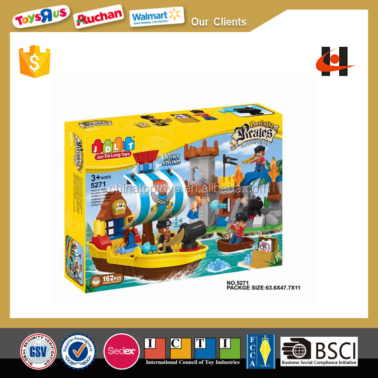 162pcs Pirate Island building block with IC electronic toy brick