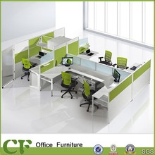 New Elegant Modular open office wall partition in wood