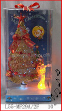 Battery Fiber Optic Christmas Tree with Music Play