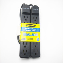2 Pack UL Listed 6 Outlets Surge Protector grounded power strip
