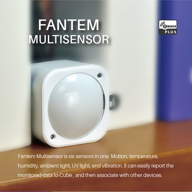 Fantem smart home Z-wave multisensor 6 in 1