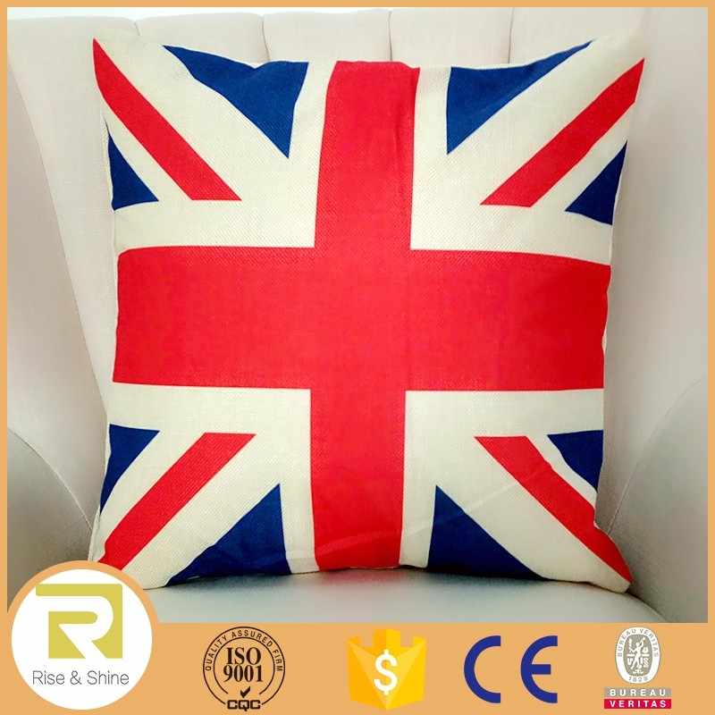 latest design cushion cover digital printing country flag pillow