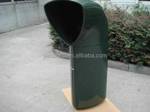 High quality glossy gel coat fiberglass garbage bins frp factory
