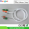 Top Selling Mobile Phone Accessories 2 in 1 MFi Certified USB Cable with 8 Pin USB and Micro USB for iPhone, iPad, Android