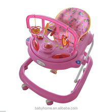 multifunctional safe swivel wheels baby walker with brakes
