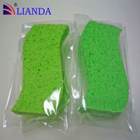 customized natural cellulose car wash sponge, cute bath sponge, diamond sponge polishing pad