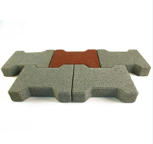 Dog-bone rubber pavers/soft rubber bricks