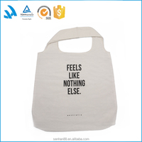 Online shopping promotional designer cotton canvas tote bag