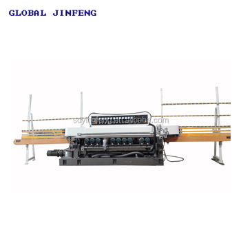 JFB-361SJ 10 Motors PLC glass mirror beveler edging machine with CE certificate