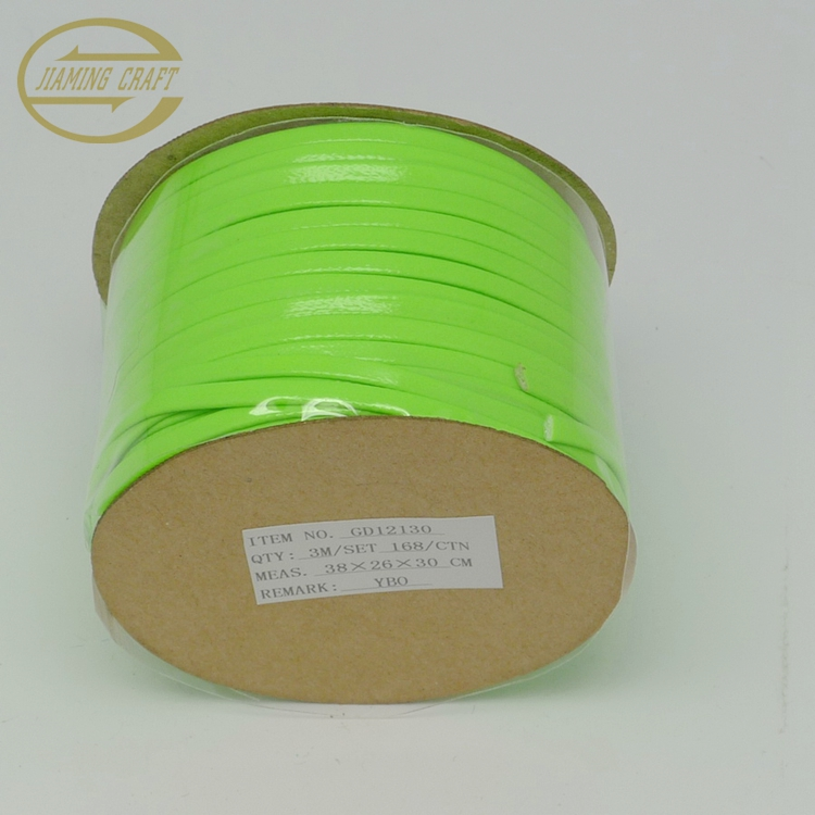 Factory directly sale self adhesive backed leather ribbon