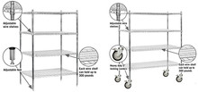 Chroming Wire Shelving For Home & Garden
