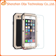 Wholesale hybrid combo case gorilla glass case for iphone 7, waterproof metal case for iphone 7 plus