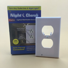 TV Night Light Sensor LED Plug Cover Snap On Wall Outlet Coverplate Kitchen Hallway Emergency Safety Lamp