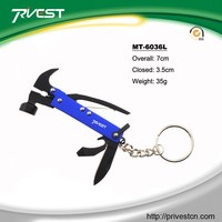 Wholesale Promotion Gift Mini Multi Purpsoe Claw Hammer with Keychain