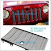 3D Anti Insects Front Mesh Grille Insert Trims with Lock Hole for 2007-2013 Jeep Wrangler JK